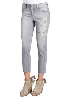 Democracy Embroidered Girlfriend Jeans