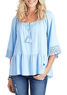 Democracy Flare Sleeve Peasant Blouse