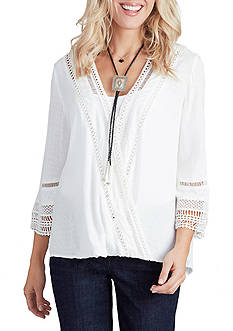 Democracy Solid Bell Sleeve Top