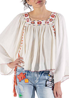 Banjara Side Tie Top With Embroidery