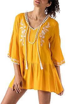 Banjara Embroidered Peasant Dress