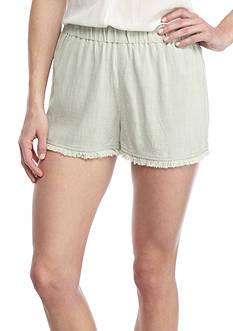 Banjara Fray Hem Linen Short