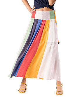Banjara Rainbow Panel Maxi Skirt