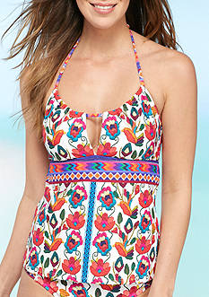 Nanette Lepore Antigua Honey Keyhole Tankini Swim Top
