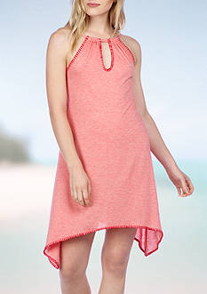 Lucky Brand Hazy Days Shark Bite Cover Up Tunic