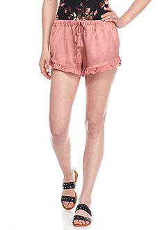 Polly & Esther Satin Ruffle Shorts