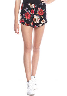 Polly & Esther Crepon Floral Printed Soft Shorts