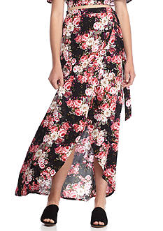 Polly & Esther Challis Floral Wrap Skirts