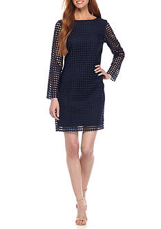 Sail to Sable All Dot Lace Shift Dress