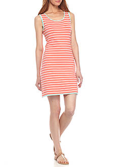Sail to Sable Sleeveless Stripe Shift Dress