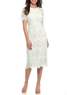 Shoshanna Guipure Lace Beaux Dress