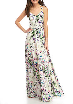 Amanda Uprichard Mallorie Printed Maxi Dress