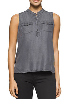 Calvin Klein Jeans Sleeveless Tencel® Shirt