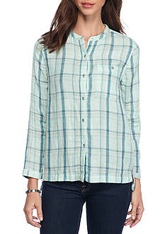 Calvin Klein Jeans Long Sleeve Plaid Button Down