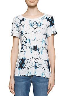 Calvin Klein Jeans Printed Mixed Media Tee