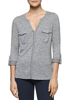 Calvin Klein Jeans Long Sleeve Cargo Roll Up Top