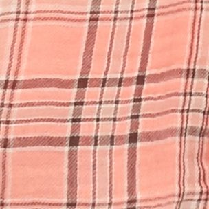 Trendy Womens Clothing: Made You Blush: Porcelain Rose Calvin Klein Jeans Plaid Crinkle Woven Top