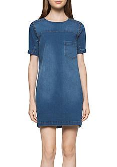 Calvin Klein Jeans Denim Stud Tee Dress