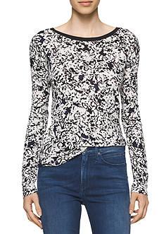 Calvin Klein Jeans V Back Print Tee
