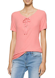 Calvin Klein Jeans Laced Up Short Sleeve Tee