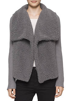 Calvin Klein Jeans Faux Fur Sherpa Jacket