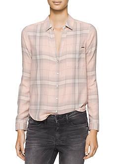 Calvin Klein Jeans Nordic Plaid Top