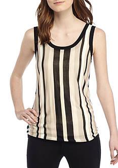 Anne Klein Multi Striped Sweater Tank