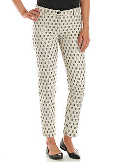 Anne Klein Clipped Jacquard Slim Pant