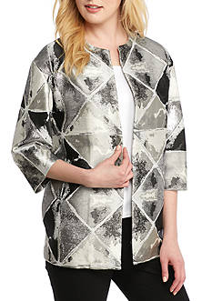 Anne Klein Metallic Jacquard Jacket