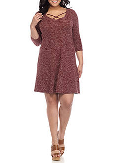 Almost Famous Plus Size Skater Dress