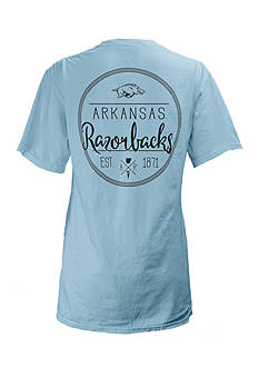 Short Sleeve University Of Arkansas Medallion Tee