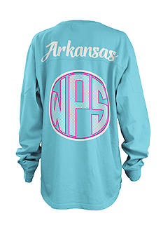 ROYCE University of Arkansas Seersucker Monogram Tee