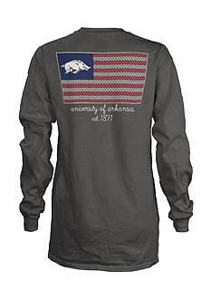 ROYCE University of Arkansas Collegiate Flag Tee