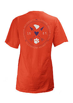 ROYCE Clemson University Boho Arrow Short Sleeve Tee