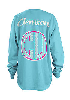 ROYCE Clemson University Seersucker Monogram Tee