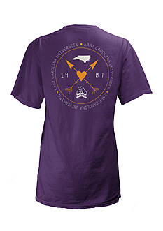 ROYCE East Carolina University Boho Arrow Short Sleeve Tee