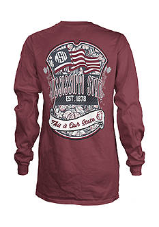 ROYCE Mississippi State University Floral Shield Long Sleeve Tee
