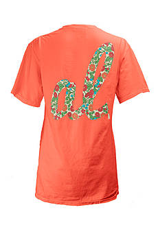 Pressbox Alabama Floral Initials State Tee