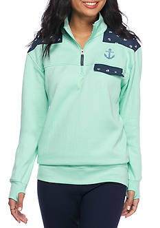 Pressbox Anchor Trim 1/4 Zip Pullover