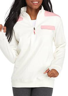 ROYCE Blossom Trim 1/4 Zip Pullover