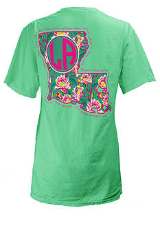 ROYCE Louisiana Floral State Preppy Tee
