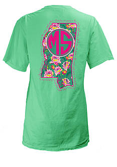 ROYCE Mississippi Floral State Preppy Tee
