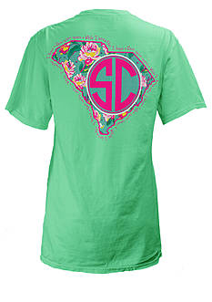 ROYCE South Carolina Floral State Preppy Tee