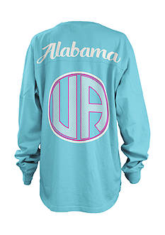 ROYCE University of Alabama Seersucker Monogram Tee
