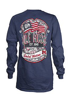 ROYCE University of Mississippi Shield Long Sleeve Tee