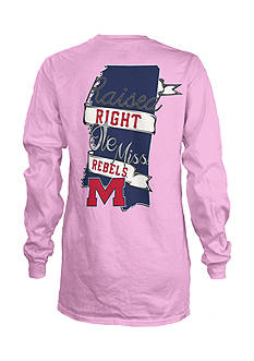 ROYCE Ole Miss Raised Right Tee