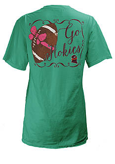 ROYCE Virginia Tech University Football Bow Tee