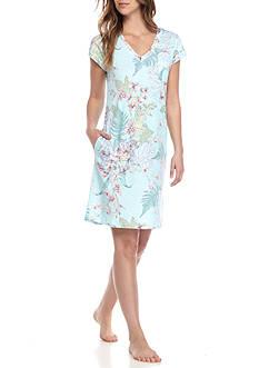 Miss Elaine Floral Cotton Sleep Shirt