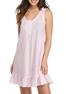 Miss Elaine Button Front Ruffle Chemise