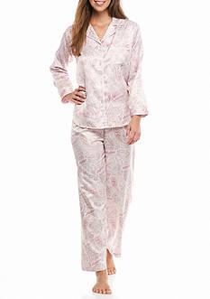 Miss Elaine Long Sleeve Notch Collar Pajama Set